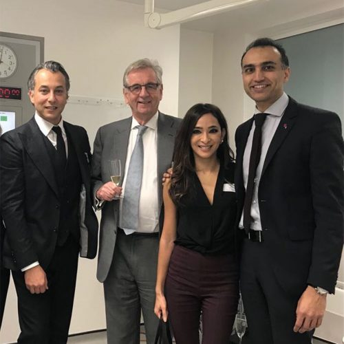 Mr Olivier Amar together with Mr Bryan Mayou and collegues from the Cadogan Clinic