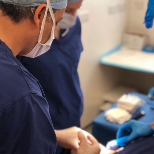 Dr Amar during operation