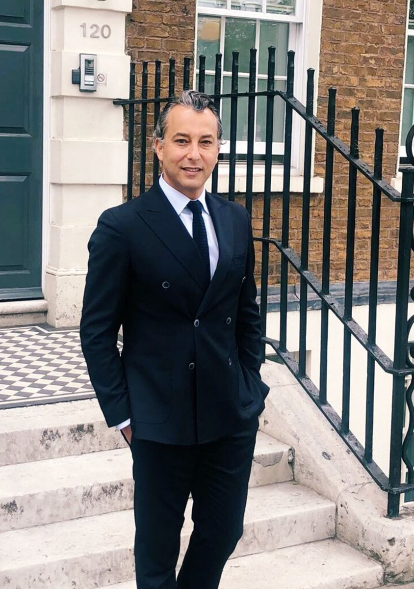 Dr Olivier Amar outside his clinic in London